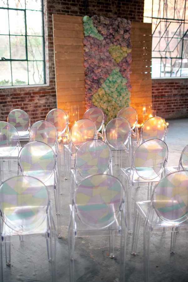 Ruffled - photo by Kaitie Bryant Photography http://ruffledblog.com/stained-glass-inspiration-with-a-real-surprise-wedding